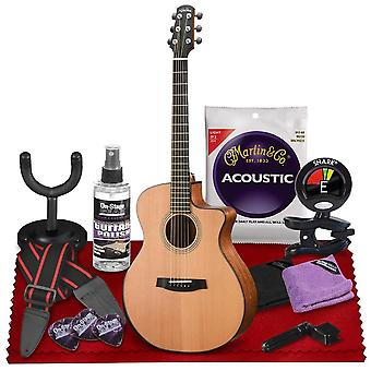 Walden g2070rce supranatura all-solid rosewood armrest cutaway-electric guitar  with gig bag, strap, strings, tuner, and more perfect for ps77863