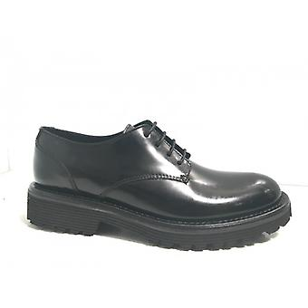 Shoes Women's Gas Bearded Laced Black Abrasive Leather D17nb03