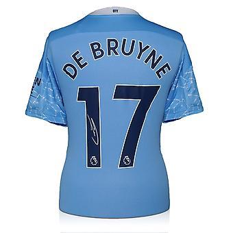 ケビン・デ・ブライネはマンチェスター・シティのシャツにサインした。2020-21