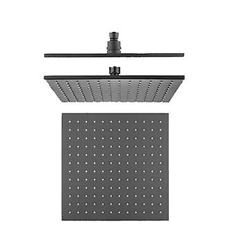 10 tuuman neliö suihkupää matta musta