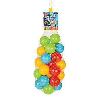 Pilsan 28 stuks kleurrijke spelballen 06423 in het net, 7 cm diameter, balbad