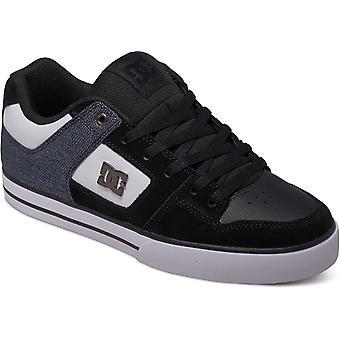 DC Pure SE sneakers in zwart/wit