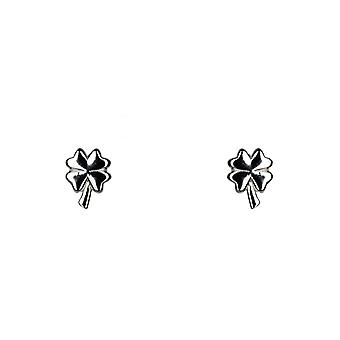 Lucky Clover Stud Stacking Earrings - Silver - Jewellery Gifts for Women from Lu Bella
