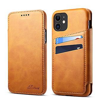 Portefeuille étui en cuir fente pour carte pour iphone6/7/8/se2 kaki pc143