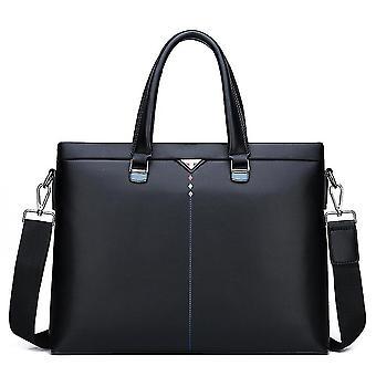 Herren weiches Leder Handtasche Schultertasche Business Pu Tasche