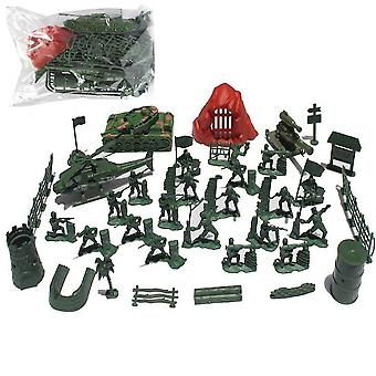 New 36pcs World War Army Soldiers With Base Toyset Plane Cover Battlefield Figures ES12820