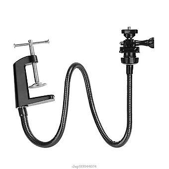 Camera Bracket With Enhanced Desk Jaw Clamp Flexible Gooseneck Stand For Webcam