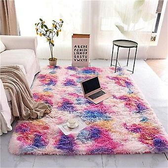 Long Hair Table Rug Bedroom Room Bay Bedside Carpet - Set 3