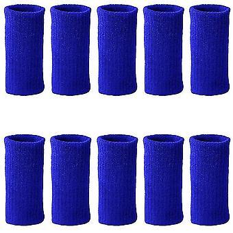 10Pcs כחול שרוולי אצבע קיץ ספורט דלקת פרקים אלסטית מפרק פרקי האצבעות מגן dt6561