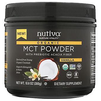 Nutiva Organic MCT Powder, Vanilla, 10.6 Oz
