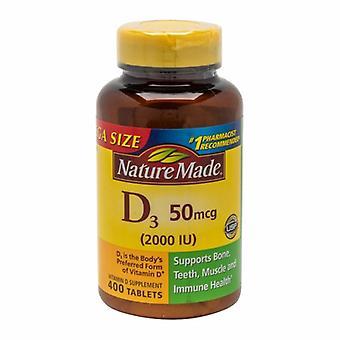 Nature Made Vitamin D3, 2000IU, 400 Tabs