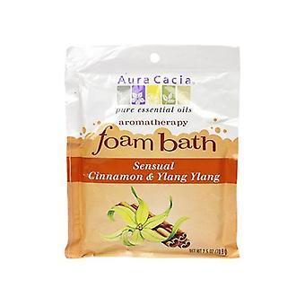 Aura Cacia Aromatherapy Foam Bath, Cinnamon Ylang 2.5 oz