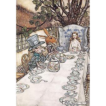 Flame Tree Alice nel Paese delle Meraviglie, Arthur Rackham Puzzle (1000 pezzi)