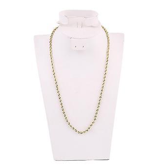 4mm 18k ouro banhado cânhamo estilo joias colar de corrente dourada