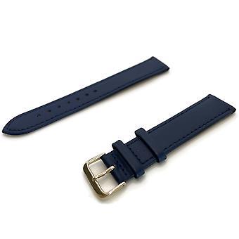 רצועת שעון עור בתוספת ארוכה כחול תפור הכלכלה אוסף