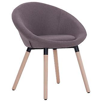 vidaXL dining chair Taupe fabric