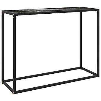 mesa de console vidaXL preto 100x35x75 cm vidro temperado