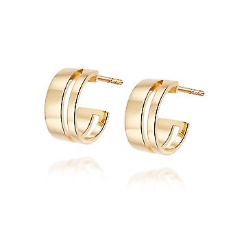 Daisy Serena Huggie Hoop 18ct Gold Plate Earrings HUG18_GP