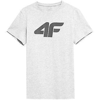 4F TSM353 NOSH4TSM353CHODNYJASNYSZARYMELAN universal miesten t-paita