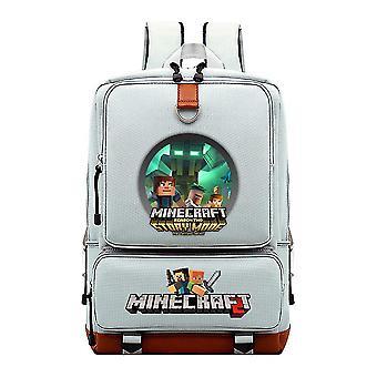 Minecraft szkoła młodzieżowa wodoodporny plecak