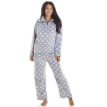 Camille Kvinders Flerfarvede Spot Print Supersoft Grå Pyjama Sæt