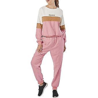Women Hoodies Patchwork Sportswear Sets Long Sleeve Sweatshirt & Pant