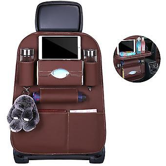 مقعد السيارة حقيبة سيدان تخزين جيب جلدي مقعد حامي