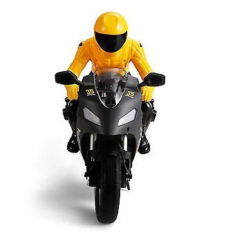 PO 801 1/6 Itsetasaus RC Moottoripyörä 6 akseli gyroskooppi Stunt Racing Muovi Mini Lelu (Keltainen)