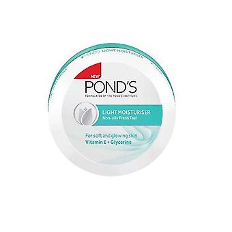 Ponds Light Moisturizing Cream. Lightweight Anti Aging Treatment with UV Ray Protection for all Skin Types. 75ml