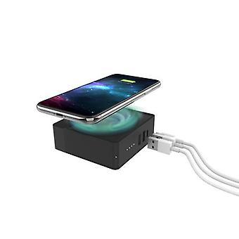 mophie 401102475, indoor, AC, USB, 12 V, Wireless charging, PowerIQ, Black