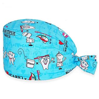 Unisex Cotton Scrubs Hat Dentist Pet Shop Lab Working Hats Scrub Cap