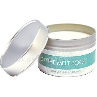 Small Tin Lime, Basil & Orange Candle by The Melt Pool