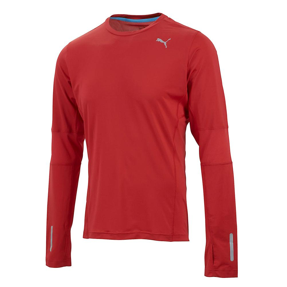 PUMA Pure Fitted Long Sleeve Tee [red]
