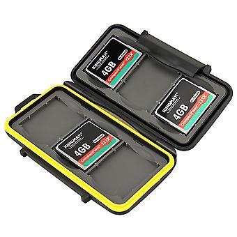 JJC wody odporne na pamięć karta twardy futerał dla 6 kart x CompactFlash