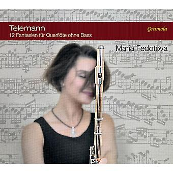 Telemann / Fedotova - Telemann: Twelve Fantasias for Flute Without Bass [CD] USA import