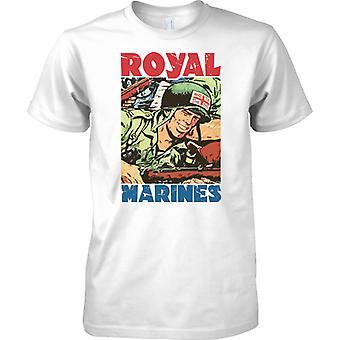 Royal Marines Commando Cartoon - T-Shirt für Herren
