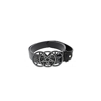 Attitude Clothing Triple Pentagram Buckle Belt