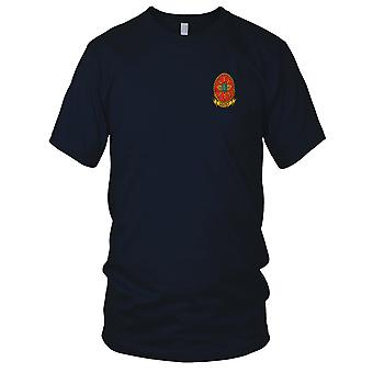 USMC 1st Marine Wing mededeling Squadron MWCS militaire Vietnamoorlog geborduurd Patch - Mens T Shirt