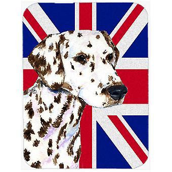 Dalmatien avec anglais Union Jack drapeau britannique verre coupe Conseil grande taille