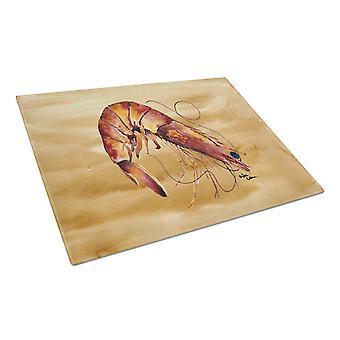 Carolines Treasures  8161LCB Shrimp  Glass Cutting Board Large