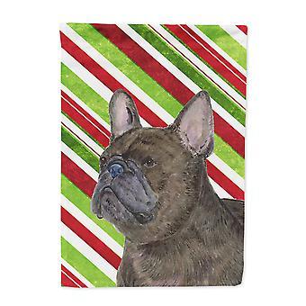 Carolines Treasures  SS4588-FLAG-PARENT French Bulldog Candy Cane Holiday Christ