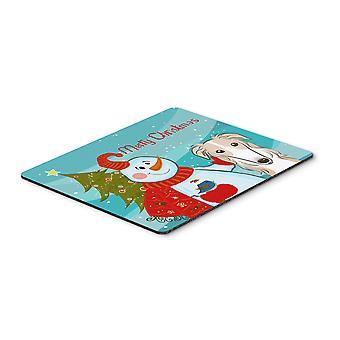 ボルゾイ マウス パッド、熱パッドまたは五徳キャロラインズ宝物 BB1848MP 雪だるま