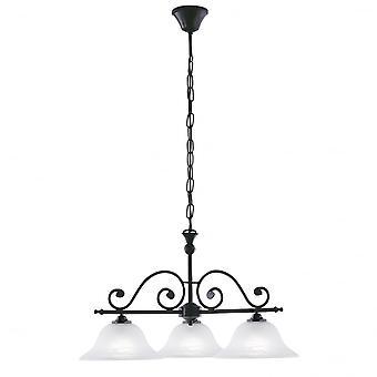 EGLO 3 ljus traditionella hängande tak ljus svart Fini