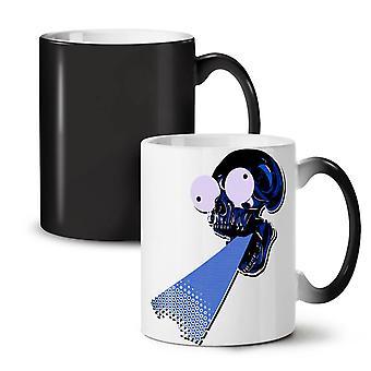 Puke czaszka głowy śmieszne nowy kolor czarny zmiana herbata kawa ceramiczny kubek 11 oz | Wellcoda