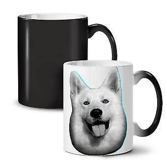 Cute Huskey Animal Dog NEW Black Colour Changing Tea Coffee Ceramic Mug 11 oz | Wellcoda
