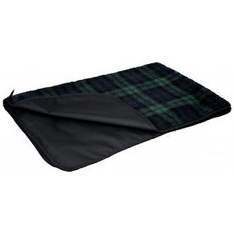 Черные часы тартан страна собака ватки одеяло с водонепроницаемый бэк lartge