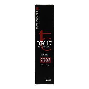 Goldwell Topchic Warm Reds 7RO Max Permanent Hair Color 60ml