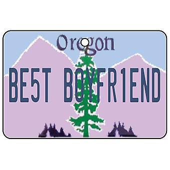 Oregon - Best Boyfriend License Plate Car Air Freshener