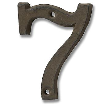 Hill Interiors Rustic Brown Cast Iron Number (0-9)