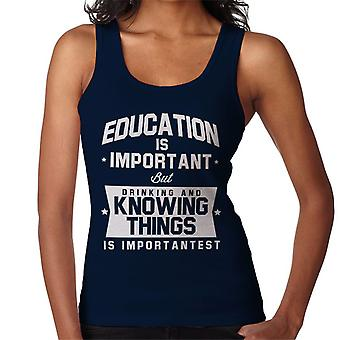 Education Is Important But Using The Force Is Importantest Women's Vest